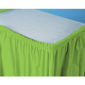 Fresh Lime (Lime) Plastic Table Skirt