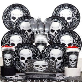 Fright Night Party Deluxe Tableware Kit Serves 18