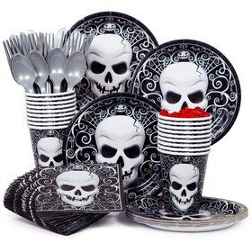Fright Night Party Standard Tableware Kit Serves 18