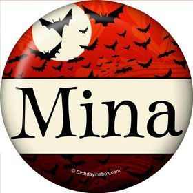 Frightful Personalized Mini Button (Each)