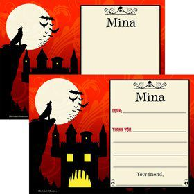 Frightful Personalized Thank You Note (Each)