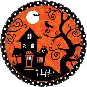 "Frightfully Fancy Halloween 10.5"" Dinner Plate (18 Count)"
