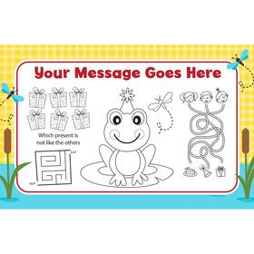 Frog Pond Fun Personalized Activity Mat (8 Count)