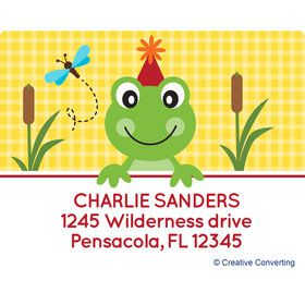 Frog Pond Fun Personalized Address Labels (Sheet of 15)