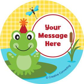 Frog Pond Fun Personalized Stickers (Sheet of 12)