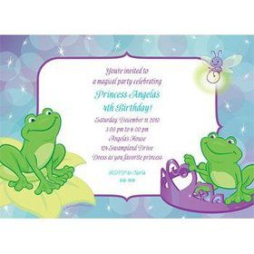 Frog Princess Personalized Invitation (each)