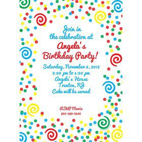 Frosted Cake Invitation (Each)