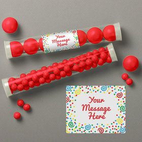 Frosted Cake Personalized Candy Tubes (12 Count)