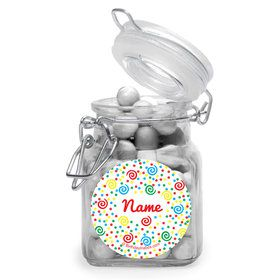 Frosted Cake Personalized Glass Apothecary Jars (10 Count)
