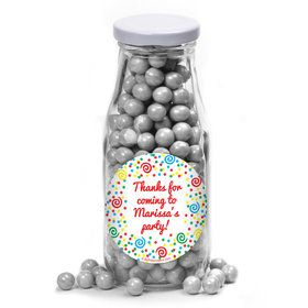 Frosted Cake Personalized Glass Milk Bottles (12 Count)