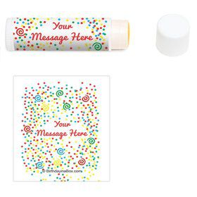 Frosted Cake Personalized Lip Balm (12 Pack)
