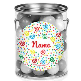 Frosted Cake Personalized Mini Paint Cans (12 Count)