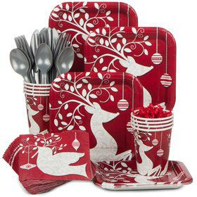 Frosted Holiday Standard Tableware Kit Serves 20