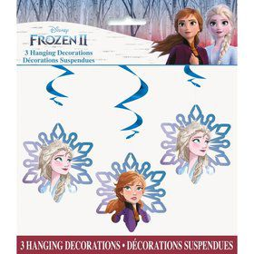 "Frozen 2 Hanging 26"" Swirl Decorations (3)"