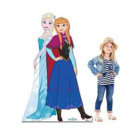 Frozen Anna and Elsa Stand Up