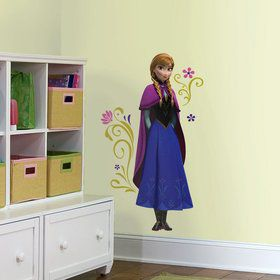 Frozen Anna W/ Cape Giant Wall Decal Decoration (Each)