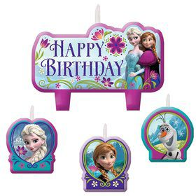 Frozen Birthday Candle Set (Set of 4)