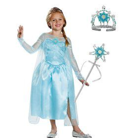 Frozen Elsa Kids Costume Kit Deluxe