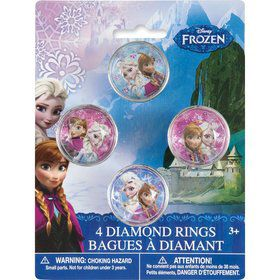 Frozen Gem Rings ( 4 Pack)