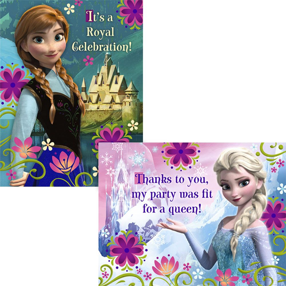 Disney's Frozen Invitation And Thank You (16 Pack) BB1INV5009