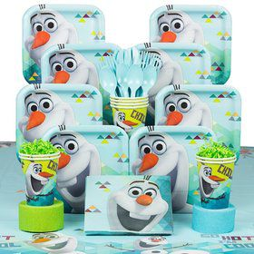 Frozen Olaf Birthday Party Deluxe Tableware Kit Serves 8