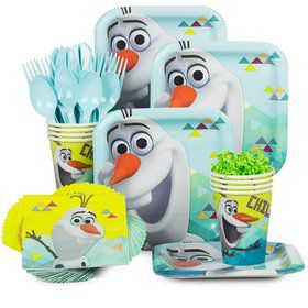 Frozen Olaf Birthday Standard Tableware Kit Serves 8