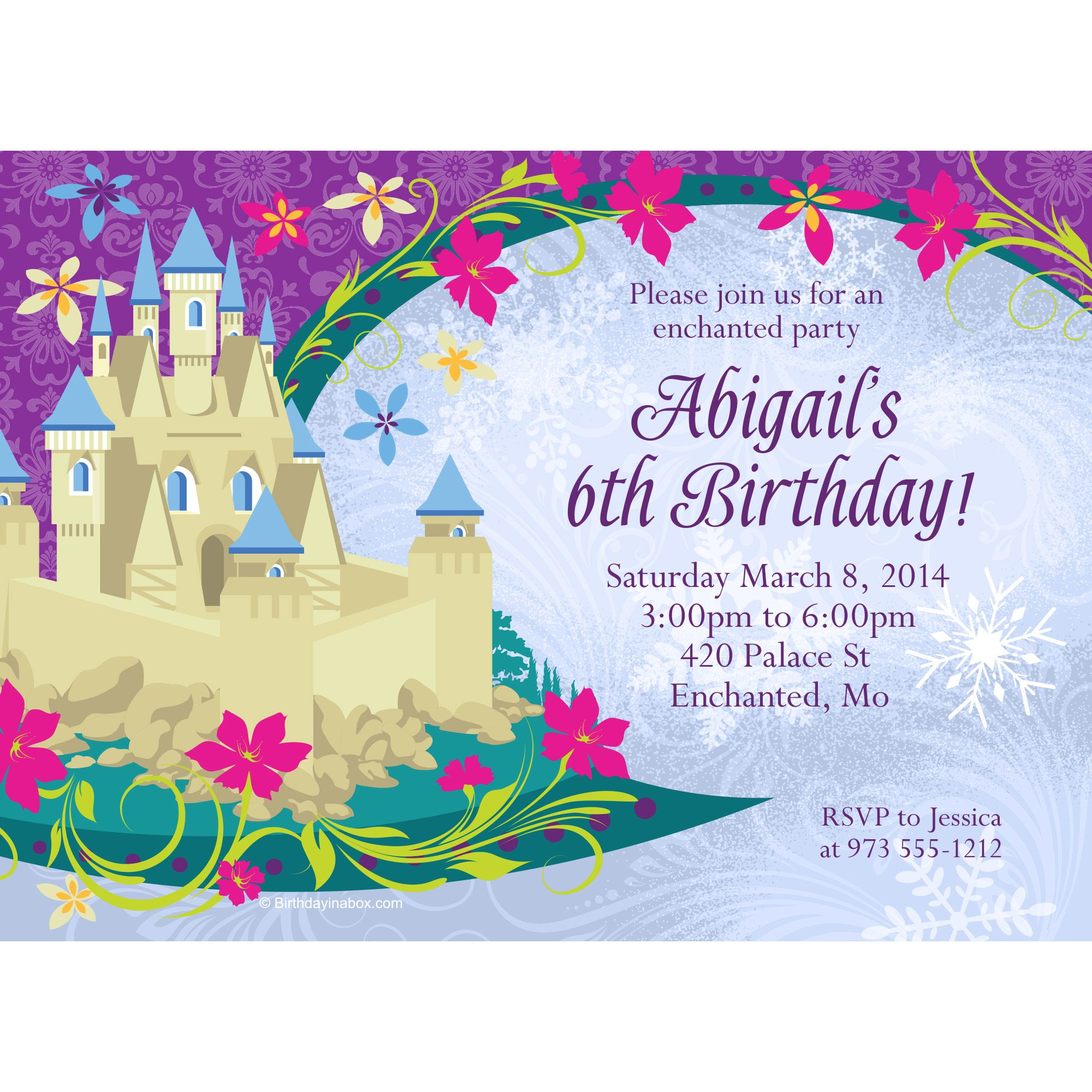 Frozen Personalized Invitation (Each) - Party Supplies BB1385IN