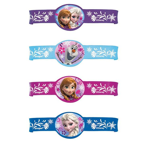 Frozen Rubber Bracelet Favors (4 Pack) BB45059