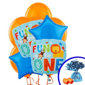 Fun at One Boy Balloon Bouquet