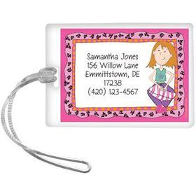 Funky Girl Personalized Luggage Tag (each)