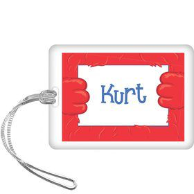 Fuzzy Friends 1st Birthday Personalized Bag Tag (each)