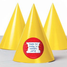 Fuzzy Friends 1St Birthday Personalized Party Hats (8 Count)