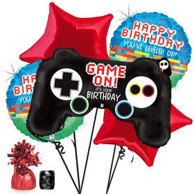 Game Controller Birthday Balloon Bouquet Kit