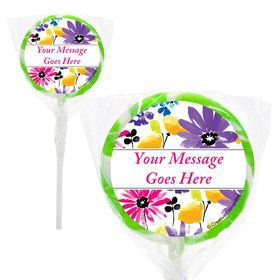 "Garden Blooms Personalized 2"" Lollipops (20 Pack)"