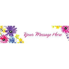 Garden Blooms Personalized Banner (Each)