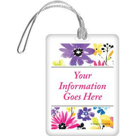 Garden Blooms Personalized Luggage Tag (Each)
