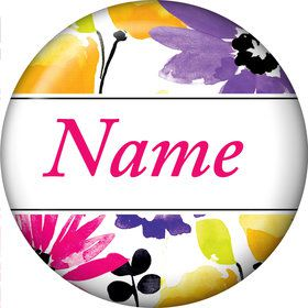 Garden Blooms Personalized Mini Magnet (Each)