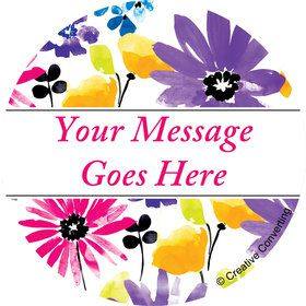 Garden Blooms Personalized Mini Stickers (Sheet of 24)