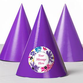 Garden Blooms Personalized Party Hats (8 Count)