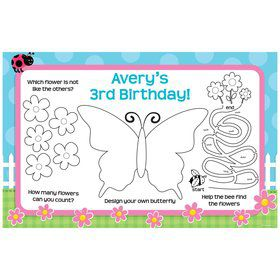 Garden Party Personalized Activity Mats (8 pack)
