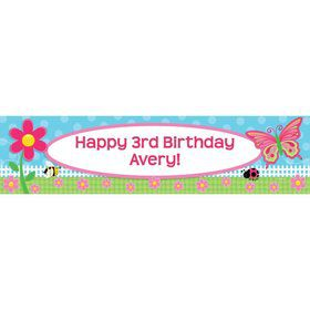Garden Party Personalized Banner (each)