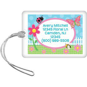 Garden Party Personalized Luggage Tag (each)