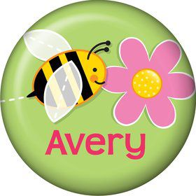 Garden Party Personalized Mini Button (each)