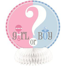 "Gender Reveal 6"" Mini Honeycomb Decorations (4 Pack)"