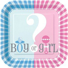"Gender Reveal 7"" Cake Plates (10 Pack)"