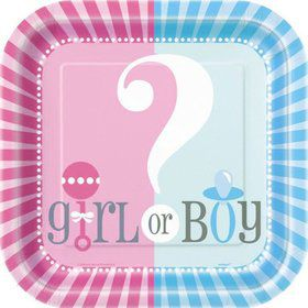 "Gender Reveal 9"" Luncheon Plates (8 Pack)"