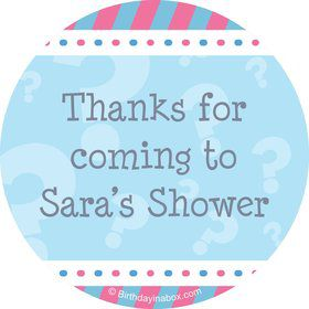 Gender Reveal Boy Personalized Stickers (Sheet of 12)