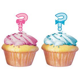 "Gender Reveal ""?"" Cupcake Topper (12 Pack)"