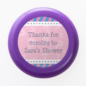Gender Reveal Girl Personalized Mini Discs (Set of 12)