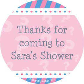 Gender Reveal Girl Personalized Stickers (Sheet of 12)
